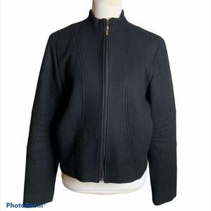 Ralph Lauren short black wool coat Large